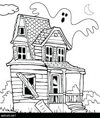 Tree House Coloring Picture Pages Printable Haunted For Kids Free