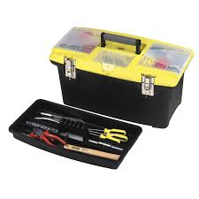 stanley tool set box. zoom out of package angled stanley tool set box o