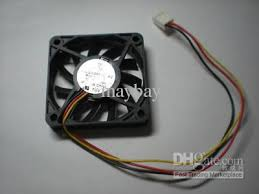 brushless dc cooling fan blade v s wire xxmm 11 plastic blades 3 wires rating dc 12v 0 1 0 5a low speed moderate air flow quiet sleeve bearing design fit compact computer cases