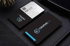 Free Modern Black Business Card Template Design