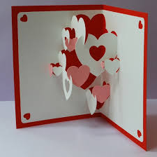 4 Heart Collage Pop-up Cards and 4 Mini Heart Cards - Reserved For Dmaryi