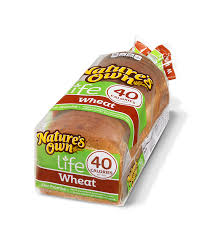 40 Calories Wheat Natures Own Bread