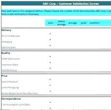 Customer Satisfaction Survey Template Excel Customer Satisfaction Survey Template Doc Report New