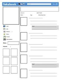facebook template for student projects. Fakebook Facebook template Project ideas Pinterest Pdf