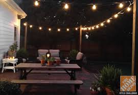 covered patio lights. Fanciful How To Hang String Light Without Tree Outdoor Lighting Idea For Your Backyard Wooden Post Covered Patio Lights