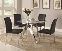 table lovely kitchen awesome round dinner black set 6 gl dining room sets for 6 dayri me