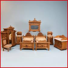 Oak Bedroom Suites Antique German Dollhouse Oak 8 Pc Luxury Bedroom Suite 1870s