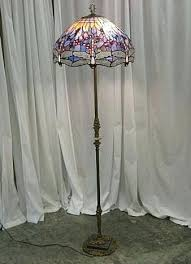 vintage stained glass floor lamp dragonfly stain glass shade old brass floor lamp home design ideas