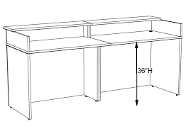 classic custom standing height reception desk 5w standard office uk large size