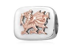 welsh dragon bead charm welsh dragon bead charm