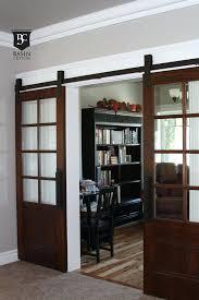 barn doors with glass sliding glass