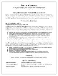It Manager Resume Template Google Product Manager Resume It Manager