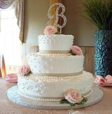 Elegant Classic Wedding Cake With Fresh Roses Picture Of Cakes For