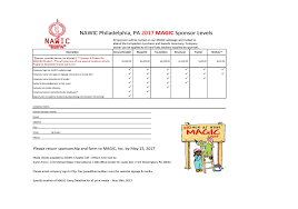 sponsorship forms for fundraising nawic philadelphia pa chapter 145 2017 magic camp fundraising