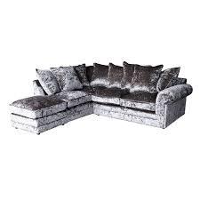 corner sofa crushed velvet