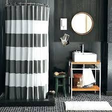 ticking stripe shower curtain ticking stripe shower curtain black white striped shower curtain gray and white