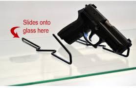 Handgun Display Stand GunShelf Gun Display Stands and Accessories Gun Shelf 58