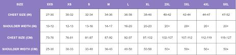 Sizing Chart Gc2b International