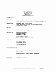 High School Student Resume Template No Experience Unique Resume