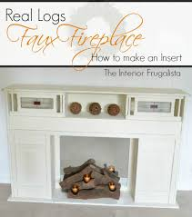 how to diy a fireplace insert with real logs