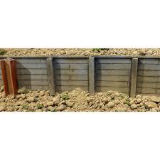 small timber retaining wall