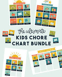 Ultimate Kids Chore Chart Bundle Calendar And Chore Charts For Kids Blue Version