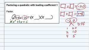aleks factoring a quadratic with leading coefficient 1