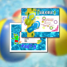 Hawaiian Pool Party Invitations Free Cool Party Invitation Card For Your Summer Groove Pool Party