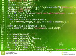 C Stock Chart Source Code Programming Coding Source Code Screen Stock Illustration
