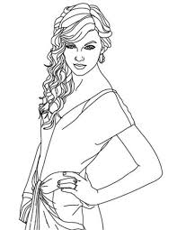 Small Picture Lovely Taylor Swift Coloring Page Lovely Taylor Swift Coloring