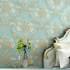 Teal Bedroom Wallpaper Deep Embossed 3d Wallpaper For Living Room Bedroom 1000cm X 53cm