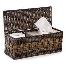 Lidded Wicker Box Bathroom Storage Basket The Basket Lady