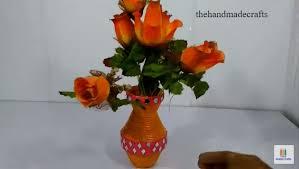 News Paper Flower Vase How To Make Best Out Of Waste Newspaper Flower Vase The