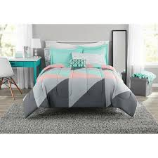and teal bed in a bag comforter set