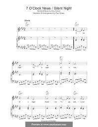 sheet music silent night 7 oclock news silent night by p simon sheet music on musicaneo