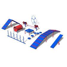 ultra play 9 activity expert dog park agility course kit