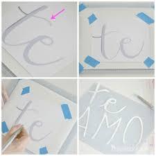 diy letter stencil 2 on wall art letter stencils with diy wall art nursery art custom stencil tutorial
