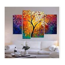 handpainted oil painting palette knife paintings for living room wall large canvas art abstract tree