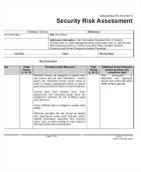 Sample Risk Assessment Form Template Doc Analysis Document Making ...