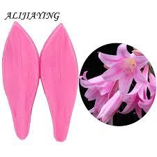 <b>2Pcs</b>/set 3D <b>Lily</b> petal shape Sugarcraft Silicone Fondant Molds ...