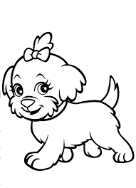 cute puppy coloring pages for girls