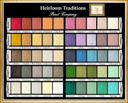 Coral Paint Color Chart Color Chart For Heirloom Traditions Chalk Paint You Can Buy Any