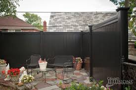 black vinyl privacy fence. V300-6 Color Vinyl Tongue And Groove Privacy Fence Shown In Black (L105). (L105) U