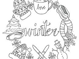 free winter coloring pages for kids coloring pages of animals free
