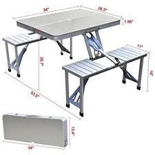 camping furniture heavy duty aluminium folding picnic table chairs set umbrella