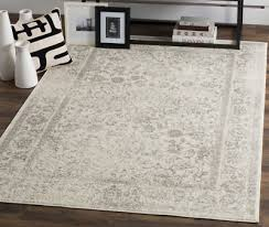 safavieh distressed area rug 8x10 ivory silver living room floor carpet vintage