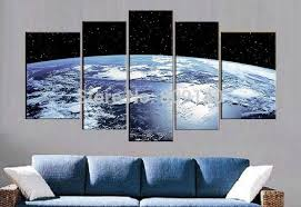 Wall Art Ideas Design : Blue Earth Outer Space Wall Art Surface Abstract  Oil Painting Decorations Handmade Quality Home Calligraphy Excellent outer  space ...