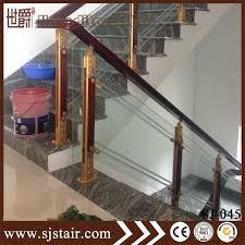 modern house wood handrail aluminum barade interior glass stair railings railing kits uk