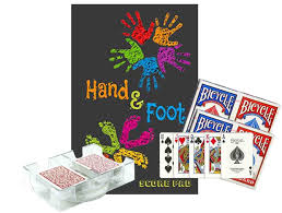 Design Essentials Distributors Jordause Distributors Hand And Foot Game Night Bundle Gift Box Set Score Pad Notebook With Scoring Reference 4 Card Decks 2 Deck Revolving Discard