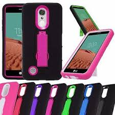 Image is loading For-LG-K20-PLUS-K20V-Grace-Harmony-Armor- For LG K20 PLUS/ K20V/ Grace/Harmony Armor Cover KickStand 2 Layer